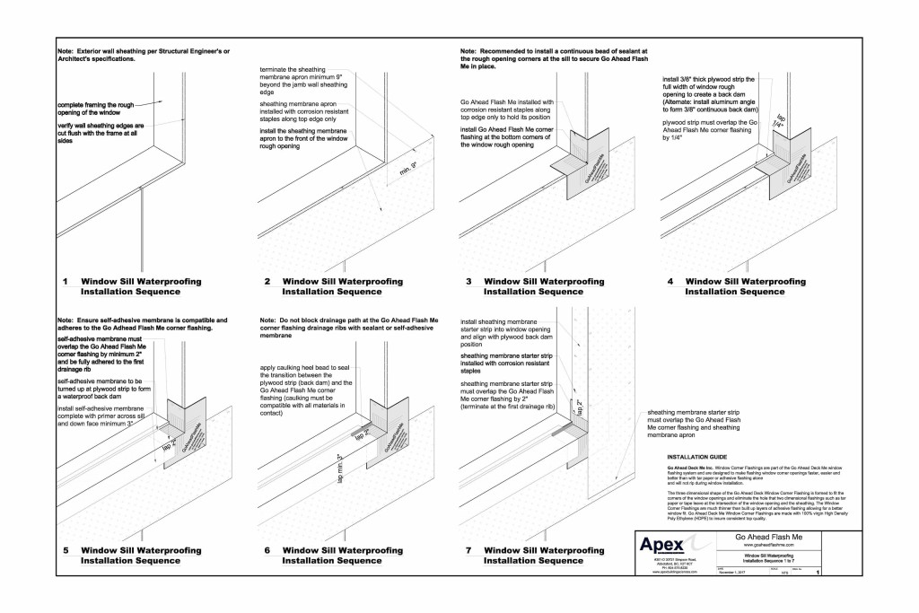 Window Sill Waterproofing Installation Sequence